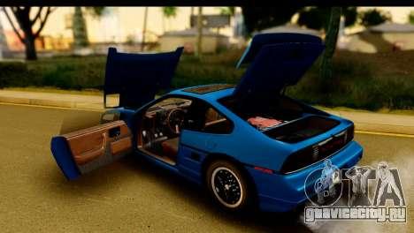Pontiac Fiero GT G97 1985 HQLM для GTA San Andreas вид изнутри