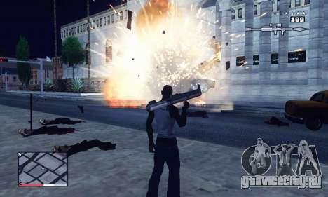 C-HUD GTA 4 with Map для GTA San Andreas