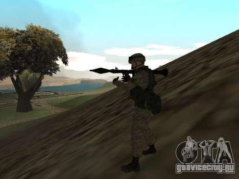 Солдат Российской армии в экипировке Ратник для GTA San Andreas второй скриншот