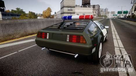 DeLorean DMC-12 [Final] Police для GTA 4 вид сзади слева