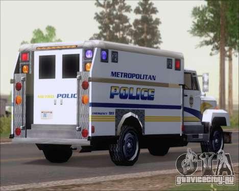 Enforcer Metropolitan Police для GTA San Andreas вид сзади слева
