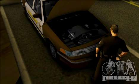 Ford Crown Victoria 1994 Sheriff для GTA San Andreas вид сзади
