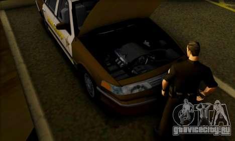 Ford Crown Victoria 1994 Sheriff для GTA San Andreas вид сзади