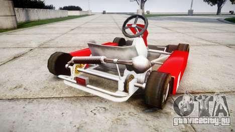 Go Kart для GTA 4 вид сзади слева