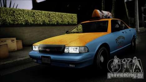 Taxi Vapid Stanier II from GTA 4 IVF для GTA San Andreas вид сбоку