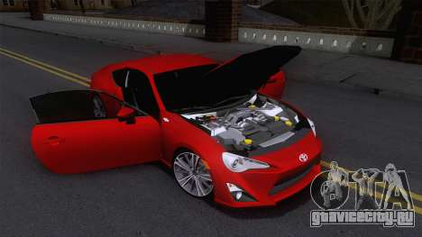 Toyota GT86 (ZN6) 2012 для GTA San Andreas вид сбоку
