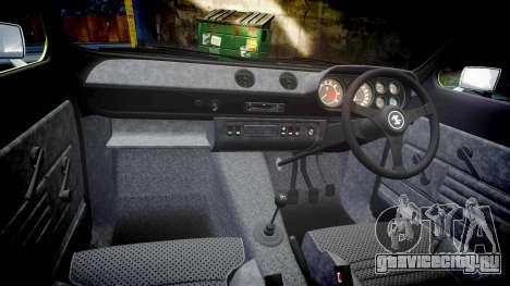 Ford Escort RS1600 PJ62 для GTA 4 вид изнутри