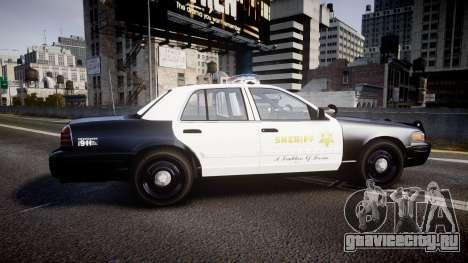 Ford Crown Victoria 2011 LASD [ELS] для GTA 4 вид слева