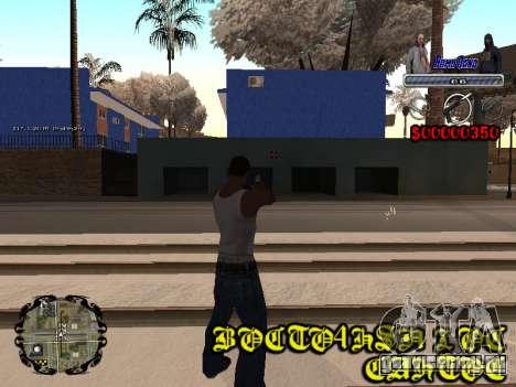 C-HUD Bomj Gang для GTA San Andreas четвёртый скриншот