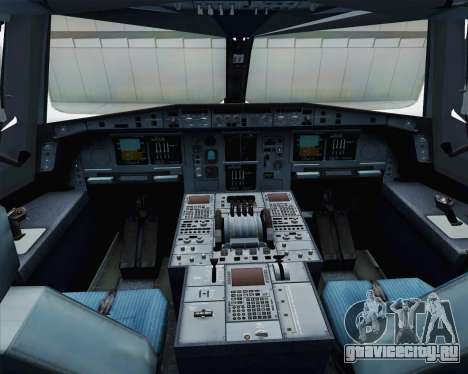 Airbus A380-800 F-WWDD Etihad Titles для GTA San Andreas вид изнутри