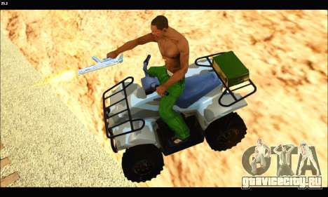 ATV Army Edition v.3 для GTA San Andreas вид справа