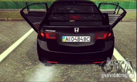 Honda Accord Type S 2008 LT для GTA San Andreas вид сзади слева