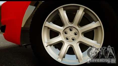 Mitsubishi Lancer X Stock для GTA San Andreas вид справа