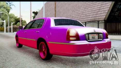 Lincoln Town Car 2010 для GTA San Andreas вид слева