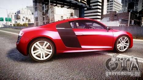 Audi R8 E-Tron 2014 для GTA 4 вид слева