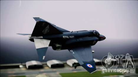 F4 Royal Air Force для GTA San Andreas вид слева