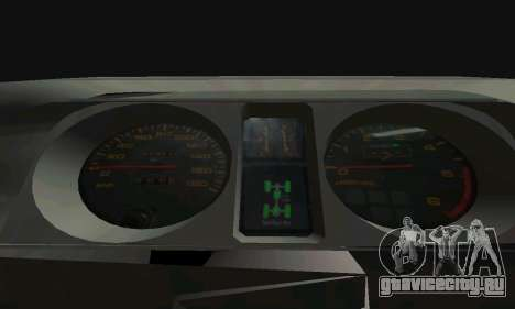 Mitsubishi Pajero Off-Road для GTA San Andreas вид снизу