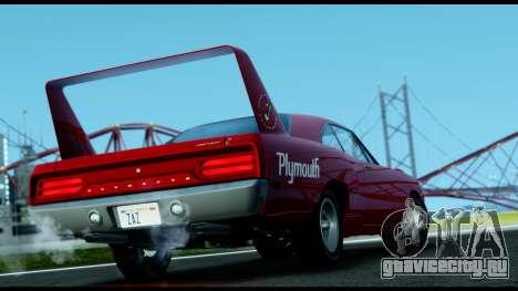 Plymouth Roadrunner Superbird RM23 1970 IVF для GTA San Andreas