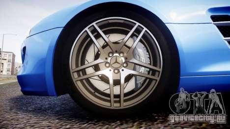 Mersedes-Benz SLS AMG 2010 для GTA 4 вид сзади