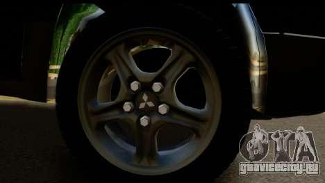 Mitsubishi Outlander для GTA San Andreas вид справа