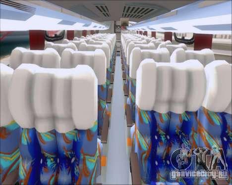 Busscar Vissta Buss LO Pullman Sur для GTA San Andreas вид изнутри