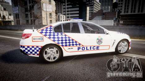Holden VF Commodore SS Queensland Police [ELS] для GTA 4 вид слева