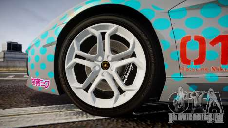 Lamborghini Aventador 2012 [EPM] Miku 3 для GTA 4 вид сзади