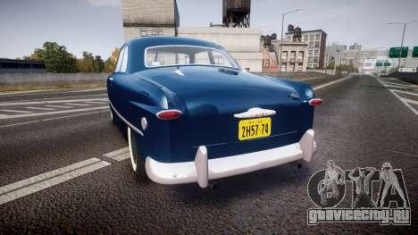 Ford Custom Club 1949 для GTA 4 вид сзади слева