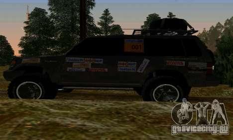 Mitsubishi Pajero Off-Road для GTA San Andreas вид справа