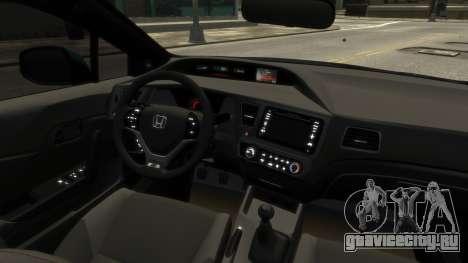 Honda Civic Si 2013 v1.0 для GTA 4 вид сзади