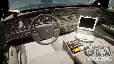 Ford Crown Victoria 2011 LASD [ELS] для GTA 4 вид сзади