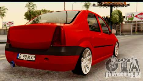 Dacia Logan MXP для GTA San Andreas вид слева