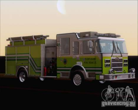 Pierce Arrow XT Miami Dade FD Engine 45 для GTA San Andreas вид слева