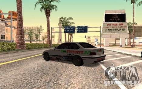 BMW M3 E36 VCDT для GTA San Andreas вид слева