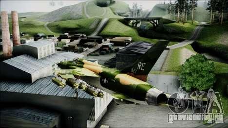 F-105 Thunderchief Polish Glider для GTA San Andreas вид сзади слева
