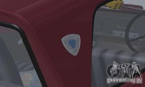 Reliant Regal Sedan для GTA San Andreas вид изнутри