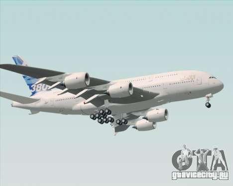 Airbus A380-800 F-WWDD Etihad Titles для GTA San Andreas вид слева