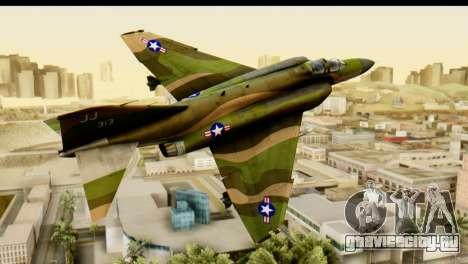 F-4 Vietnam War Camo для GTA San Andreas вид сзади слева