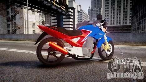 Honda Twister 2014 для GTA 4 вид слева
