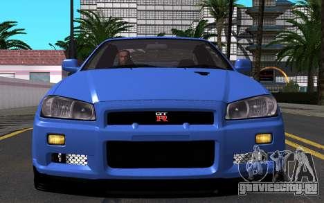 Nissan Skyline GT-R V Spec II 2002 для GTA San Andreas вид сбоку