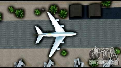 Airbus A380-800 Etihad New Livery для GTA San Andreas вид сзади