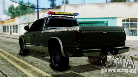 Dodge Dakota National Guard Base Police для GTA San Andreas вид слева
