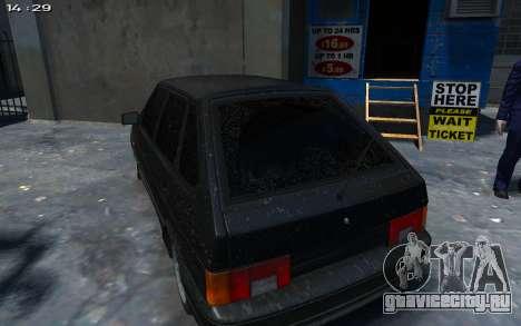 ВАЗ 2114 для GTA 4 вид сзади