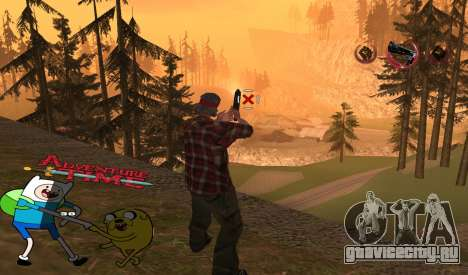 C-HUD Jack and Finn для GTA San Andreas второй скриншот