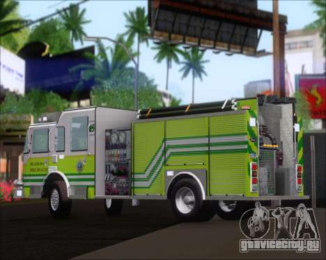 Pierce Arrow XT Miami Dade FD Engine 45 для GTA San Andreas вид сзади