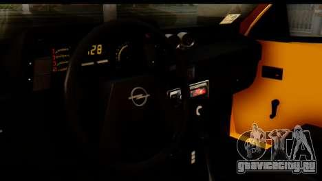 Opel Kadett GSI Drag 2015 для GTA San Andreas вид сзади слева