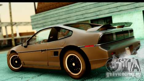 Pontiac Fiero GT G97 1985 HQLM для GTA San Andreas вид сзади слева