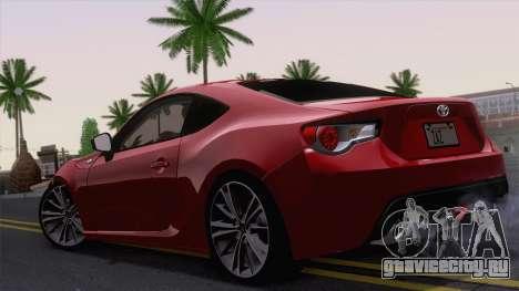 Toyota GT86 (ZN6) 2012 для GTA San Andreas вид справа