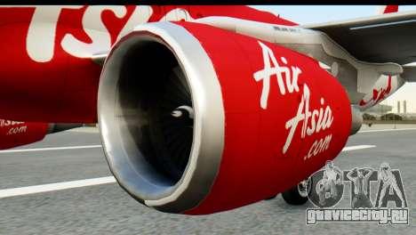 Airbus A320-200 Indonesia AirAsia для GTA San Andreas вид сзади слева