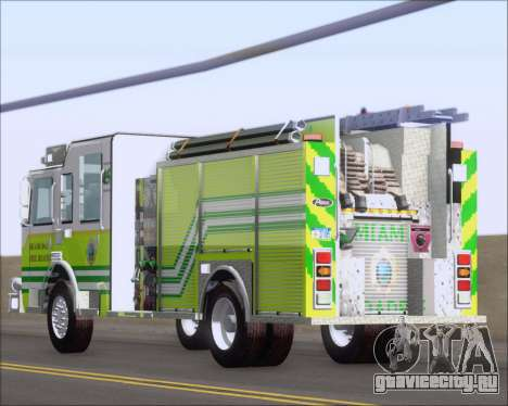 Pierce Arrow XT Miami Dade FD Engine 45 для GTA San Andreas вид сбоку